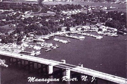 View of the Manasquan River circa 1955