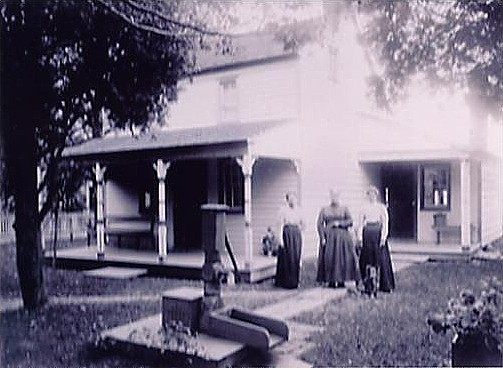 (Circa 1820) Historic Longstreet Cottage as shown in this 1890 photo located at 532 Union Lane
