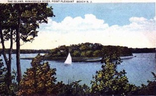 (Circa 1925) Manasquan River and Osborn Island. Now Nienstedt Island.