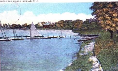 (Circa 1928) Manasquan River Scene