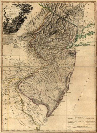 Mariner's map of New Jersey