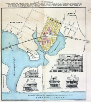 Brielle property map circa 1898
